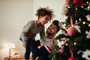Dad and Child at Christmas | Melissa Graham-Hurd & Associates